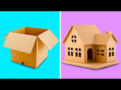 25 INCREDIBLE CARDBOARD CRAFTS TO MAKE AT HOME || Recycling Projects by 5-Minute Decor!