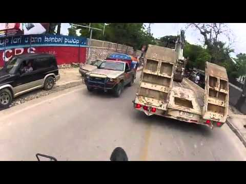 This is what Haiti actually looks like -- a 5 minute motorcycle ride around Port-au-Prince, the largest city in Haiti