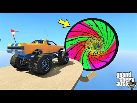 قراند 5 : باركور دخول الثقب الأسود 🐸 (GTA 5 - Travel Inside a Black Hole (Parkour