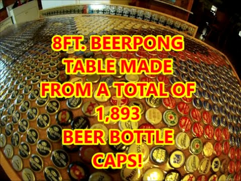 Beer Bottle Cap Beerpong Table