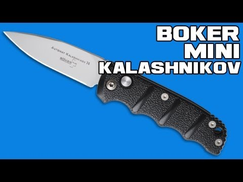 "Boker Mini Kalashnikov Automatic Knife Tanto (2.5"" Black Plain)"