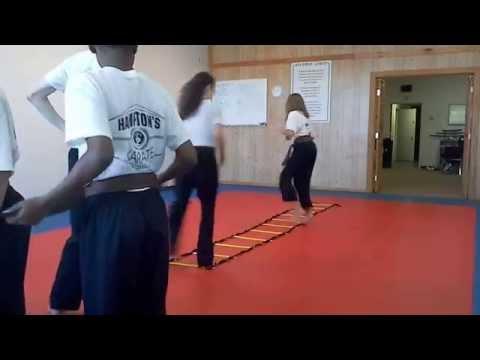 Hampton's Karate Academy - Footwork Drills 04
