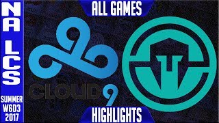 Cloud9 vs Immortals Highlights ALL GAMES - Week 6 NA LCS Summer 2017 - C9 vs IMT Full SeriesNALCS teams: Dignitas, Fly Quest, TSM, EnVyUs, Phoenix 1, CLG, Liquid, Echo Fox, Immortals, Cloud9NA LCS Spring 2017 playlist: https://www.youtube.com/watch?v=6Nat_jBUPyE&list=PLJwuLHutaYuLhpm8EMj2AyWxhS4xEFKn4☻All games spoiler free with stats and infographs at Stage: https://stage.gg/► All other previous tournaments: http://bit.ly/1WBqwLzKazaLoLLCShighlights -  bringing you fast highlights of LCS, LCK, LPL and LMS League of Legends Esports Matches every day♡♡♡♡♡♡♡♡♡♡♡♡♡♡♡♡♡♡♡♡♡♡♡♡♡♡♡♡♡♡✉ Social media below - Follow for regular updatesⓕⓑ  KazaGamez  ►http://on.fb.me/1N5j0EHⓖ+                            ►http://bit.ly/1Bpjrbaⓣⓦⓘⓣⓣⓔⓡ      ►Twitter      -  http://bit.ly/1BkVAtGⓣⓦⓘⓣⓒⓗ          ►Livestream: http://bit.ly/1BpjzYdⓓⓞⓝⓐⓣⓔ          ►Paypal: http://bit.ly/1cBU6JnSubscribe: http://bit.ly/1oZa2wJ