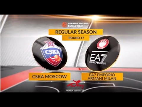 EuroLeague Highlights RS Round 17: CSKA Moscow 101-64 EA7 Emporio Armani Milan