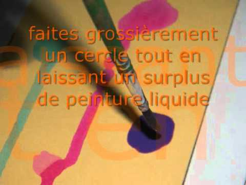 Peinture avec des enfants de 2-3 ans