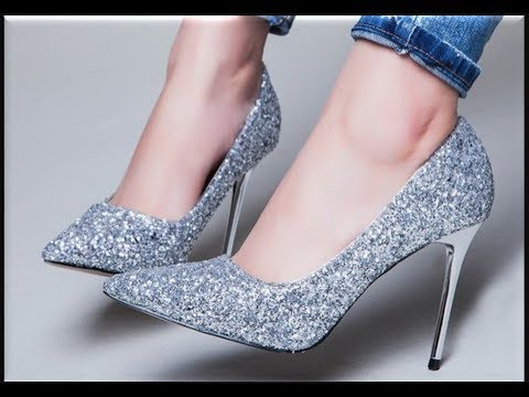 FANCY FORMAL HEELS FOR GIRLS || SILVER AND GOLDEN HEEL SHOES NEW DESIGNS COLLECTION