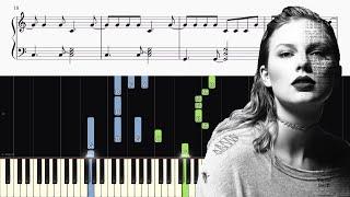 Taylor Swift - Getaway Car - Piano Tutorial + SHEETS