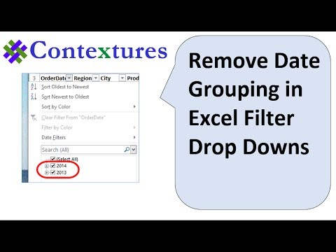 how to remove filter in excel