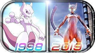 EVOLUTION of MEWTWO in Movies Cartoons Anime TV (1998-2019)💀 POKÉMON Detective Pikachu MEWTWO scene
