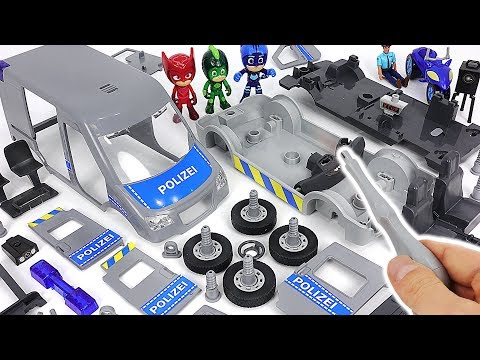 Villains are attacking the police! PJ Masks! Make us police van with Model Assembly Kit! #DuDuPopTOY