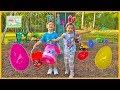 GIANT SURPRISE EASTER EGG HUNT FOR LARGE SURPRISE Opening Toys SpiderMan Frozen Elsa Kite Funny Kids