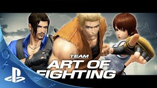 """THE KING OF FIGHTERS XIV PRESENTA AL TEAM """"ART OF FIGHTING""""."""