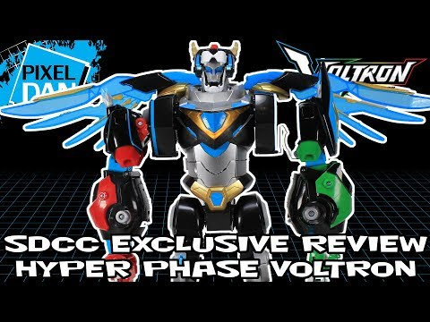 Hyper Phase Voltron SDCC 2018 Exclusive Playmates Toys Video Review
