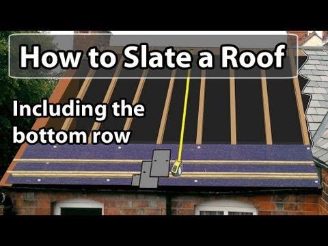 How to SLATE a roof - Set out a slate roof & bottom row