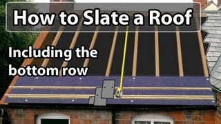 Video How to SLATE a roof - Set out a slate roof & bottom row MP3, 3GP, MP4, WEBM, AVI, FLV Oktober 2018