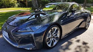 The Lexus LC 500 is a rear wheel drive sport touring car that has 471hp, a stunning interior and head-turning good looks. Even though this is a sporty looking coupe, it has a rather soft ride, it is a Lexus after all. Starting at over $100,000, this car competes with the Jaguar F-Type R as a closest comparison, in fact they are close in price.