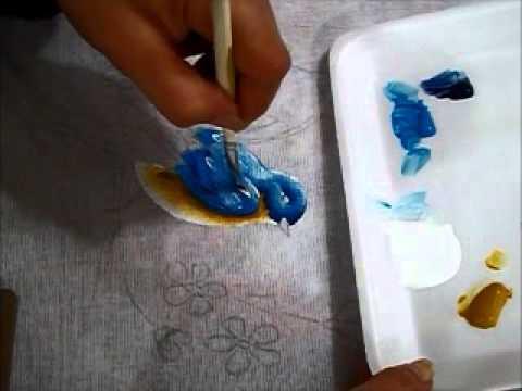 Como pintar pássaros - how to paint birds - cómo pintar las aves - Ariane Cerveira