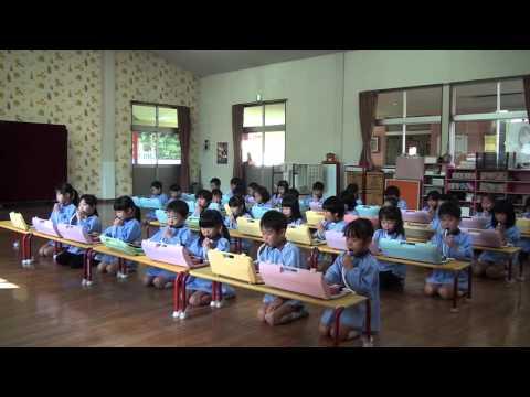 芽生え幼稚園 リトミック教室 ゆり組 鍵盤ハーモニカ「トントントントンあんぱんまん」