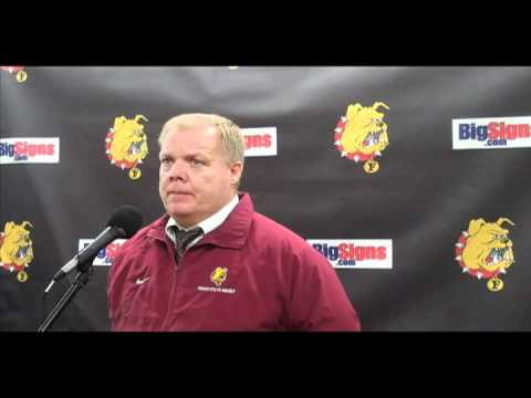 FSU Hockey Head Coach Bob Daniels - 3-2 Shootout win over Michigan 10/29/10