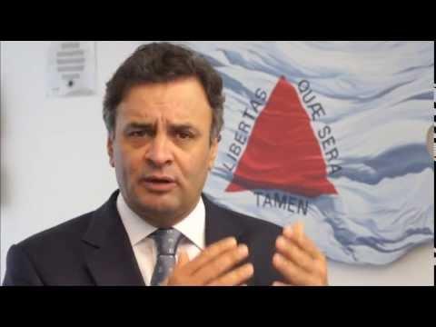 Aécio Neves: Aumentos dos royalties do minério