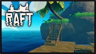 ATTACHING TO AN ISLAND & RESEARCH TABLE! | Raft Survival Gameplay
