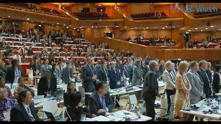UNESCO World Heritage Committee 41st Session Krakow, Poland July 4, 2017 Transcript: https://www.unwatch.org/moment-silence-holocaust-victimes-unesco/