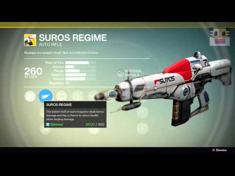 regime - This Destiny video will show you the Xur location of Week 7. This Destiny video will also show you the legendary gear and exotic weapons and armor the Xur sells that week. This week, the Exotic...