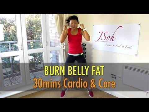 30 Mins Cardio & Core Interval (Burn Belly Fat!) – Beginner & Advance