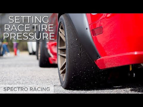 How to chalk your tire and set the correct pressure for racing.
