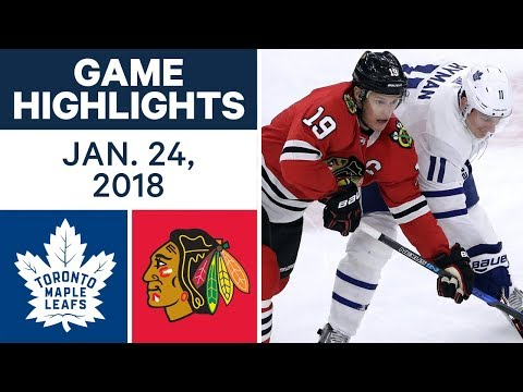 Video: NHL Game Highlights | Maple Leafs vs. Blackhawks — Jan. 24, 2018