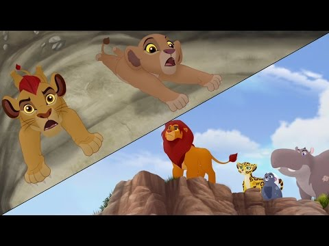 Lion Guard: Searching for Udugu + Simba leads the Guard!   The Trail to Udugu HD Clip