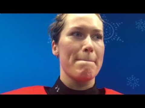 Валерия Павлова после полуфинального матча со сборной Канады