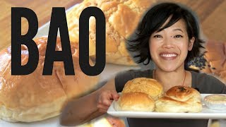 "Baos are delightful Chinese pastries that make food on-the-go a pleasure.  Learn about four basic types in this bao-themed taste test.  New videos every Monday, Thursday, and Saturday!Join the Emmy League of Adventuresome Eaters & find me here:Subscribe: http://youtube.com/subscription_center?add_user=emmymadeinjapanTwitter: https://twitter.com/emmymadeinjapanInstagram: http://instagram.com/emmymadeSnapchat: @emmymadeFacebook: https://www.facebook.com/itsemmymadeinjapan/My other channel: emmymade http://bit.ly/1zK04SJThis video is NOT sponsored.  Lucky Charms & Froot Loops Milkshakes: Bee Vlogs: http://bit.ly/2qGyaf4Sprightly & Sprightly music courtesy of audionetwork.com and royalty-free Sprightly from iMovie.  If you're reading this, you know what's what. Comment: ""Pop! "" below. :)"