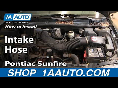 How To Install Replace Intake Hose Chevy Cavalier Pontiac Sunfire 95-97 1AAuto.com