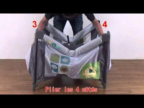 Parc bébé pliant, 4 cotés filet, sac de transport inclus. Sélection bebeachat.com