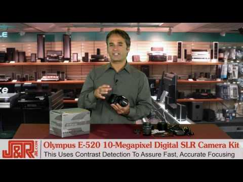 Olympus E-520 10-Megapixel Digital SLR Camera Kit - JR.com