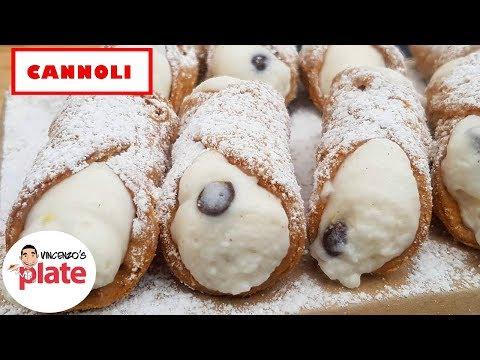 ITALIAN CANNOLI RECIPE | How to Make Sicilian Cannoli Shells and Cream