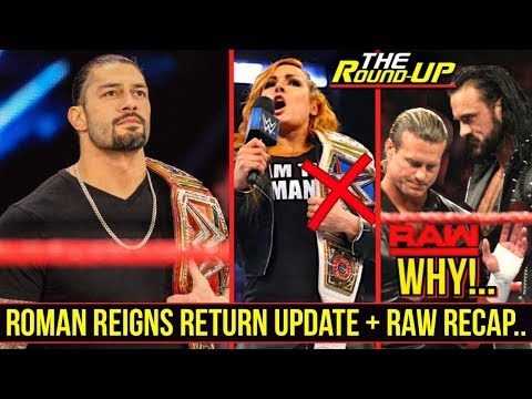 Roman Reigns Returning To WWE TV This Month!, Becky Lynch Dropping Title?, RAW Sucks - The Round Up