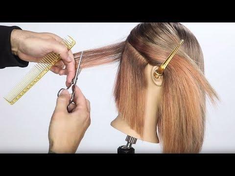 Hair cutting - TEXTURED LONG BOB HAIRCUT TUTORIAL - TEXTURE COLLECTION 2018