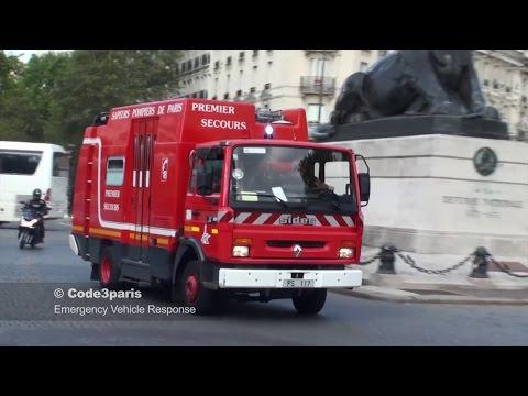 BSPP PS 117 // Paris Fire Dept Rescue Pump (видео)