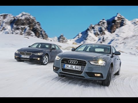 Audi Quattro Vs BMW XDrive In Snow ❄️ 😛