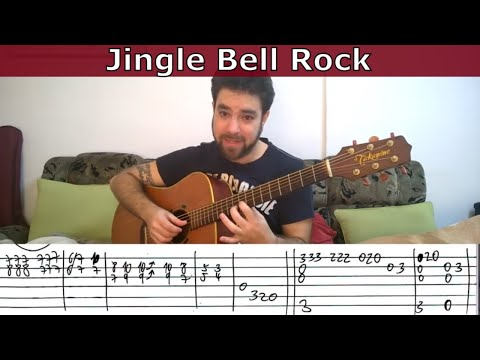 Fingerstyle Tutorial: Jingle Bell Rock - Guitar Lesson W/ TAB