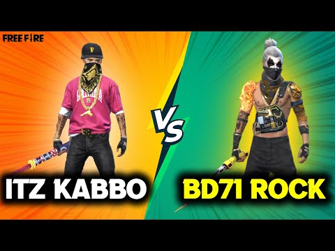 Itz Kabbo VS BD71 ROCK★—Ⓢ︎ || Clash Squad 1 VS 1 Fight || Best VS Best || Insane One Tap HeadShots