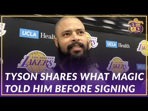 Video: Lakers Interview: Tyson Chandler Details His Conversation With Magic Before Signing With the Lakers