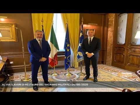 AL VIA I LAVORI DI RESTAURO DEL SACRARIO MILITARE   24/09/2020