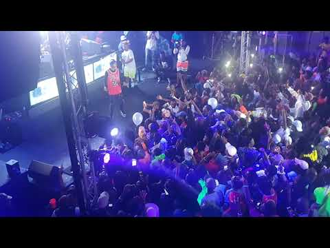 A-Reece - My Own live at DJ Maphorisa Neon party Porryland Zone 6