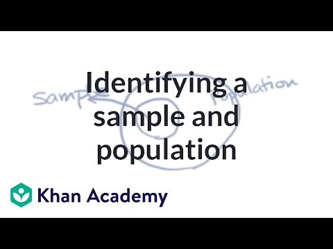 Identifying A Sample And Population Video Khan Academy