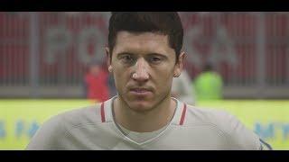 Polska reprezentacja w FIFA 18. Gameplay Polska - Niemcy (Poland VS Germany). Polski komentarz