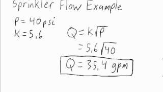 Flow Through Sprinkler Head - Fire Protection Engineering (FPE) teaching tool