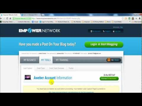 How to Link Your AWeber List to Your Capture Pages